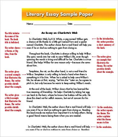 Literary Essay Template - 11+ Free Samples, Examples, Format Free