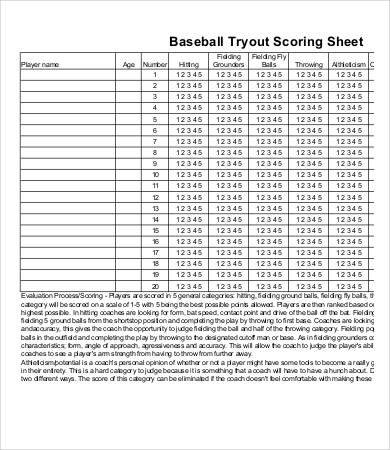 Baseball Score Sheet - 8+ Free PDF Documents Download Free - baseball score sheet template