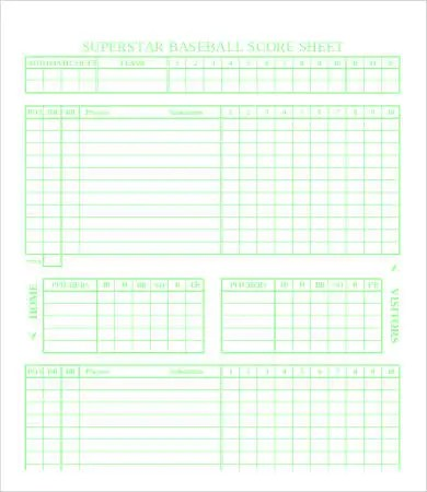 Baseball Score Sheet - 8+ Free PDF Documents Download Free