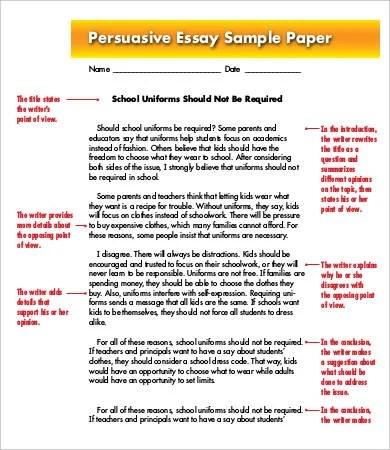 template for persuasive essay persuasive essay sample example format - Persuasive Essay Example