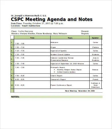 Meeting Notes Template - 10+ Free Word, PDF Documents Download