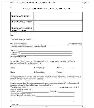 sample medical authorization letters hitecauto - authorization letters sample