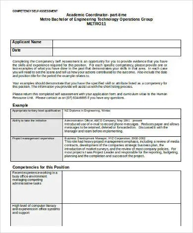 Competency Assessment Templates - 9+ Free Word, PDF Documents