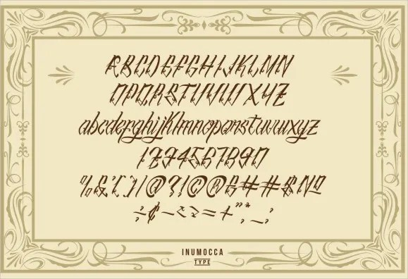 9+ Tattoo Letter Fonts - Free Sample, Example, Format Free