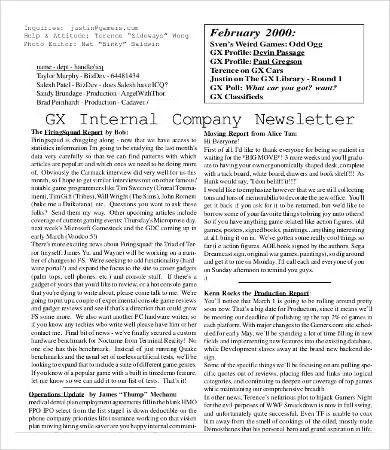 Company Newsletter Template - 6+ Free Word, PDF Documents Download