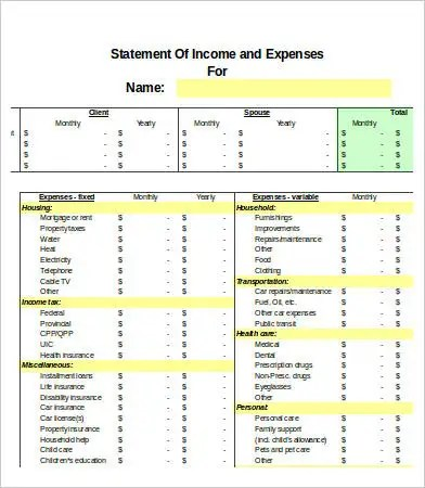 Excel Expense Templates - 9+ Free Excel Documents Download Free