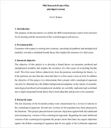 8+ Research Proposal Samples - Free Sample, Example, Format Free - formal proposal example