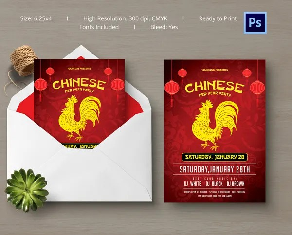 10+ Free Chinese New Year Templates - Invitations, Flyers Free