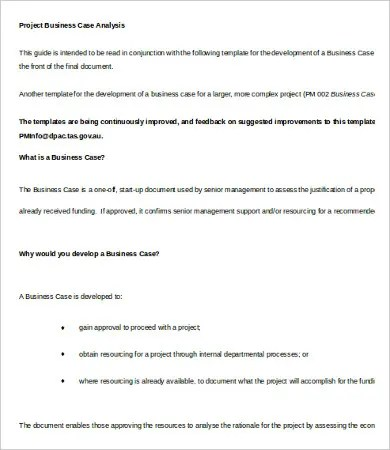 Business Case Analysis Template - 8+ Free Word, PDF Documents