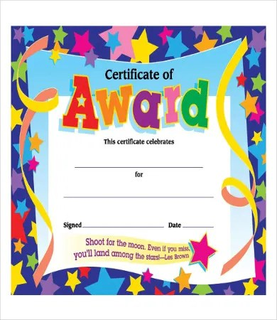 Certificate Of Achievement - 8+ Free PDF, PSD, JPG Format Download - blank achievement certificates