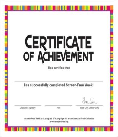 Certificate Of Achievement - 8+ Free PDF, PSD, JPG Format Download - free certificate of achievement