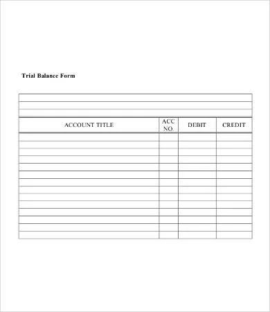 10+ Trial Balance Sheet Free  Premium Templates