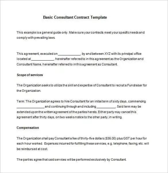 42+ Contract Templates Free  Premium Templates - contract layouts