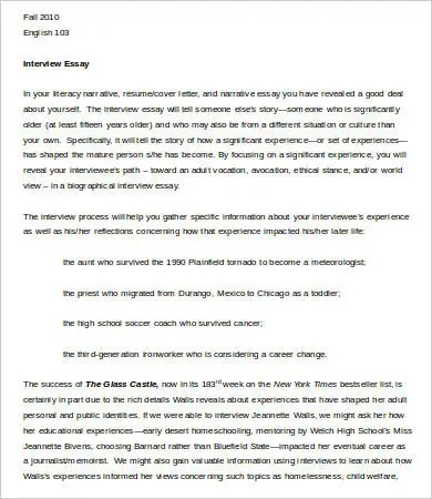 interview essay examples paper sample of apa format essay interview
