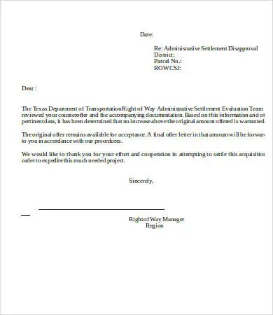 Disapproval Letters - 5+ Free Word, PDF Documents Download Free