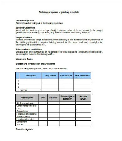 Budget Template Word - 8+ Free Word Documents Download Free