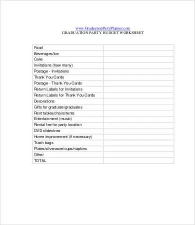 Party Budget Template - 8+ Free Word, PDF Documents Download Free