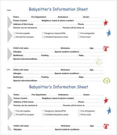 Emergency Contact Form Template Images Of Emergency Contact Form