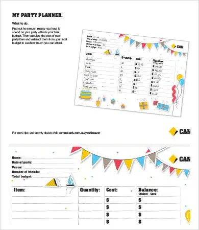 party budget template - Demireagdiffusion