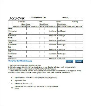 Blood Sugar Log - 7+ Free Word, Excel, PDF Documents Download Free