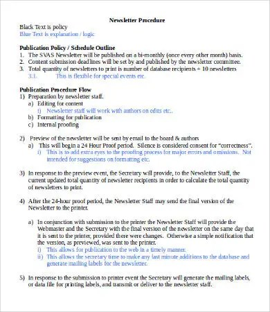 Newsletter Format - 8+ Free Word, PDF Documents Download Free - news letter formats