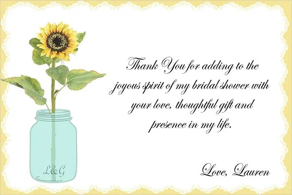 7+ Bridal Shower Thank-You Card - PSD, Vector AI, EPS Free
