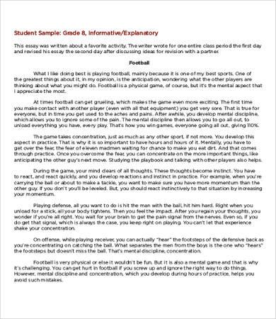 Informative Essay \u2013 9+ Free Samples, Examples, Format Download - informative essay