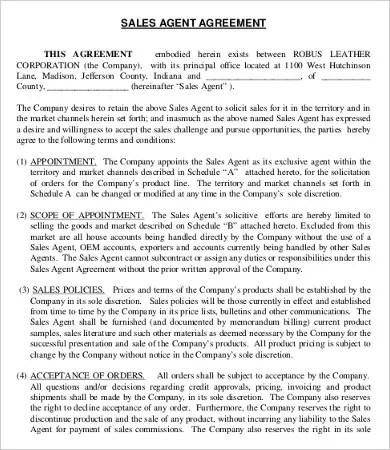 Agent Agreement Template - 9+ Free Word, PDF Documents Download - Booking Agent Contract Template