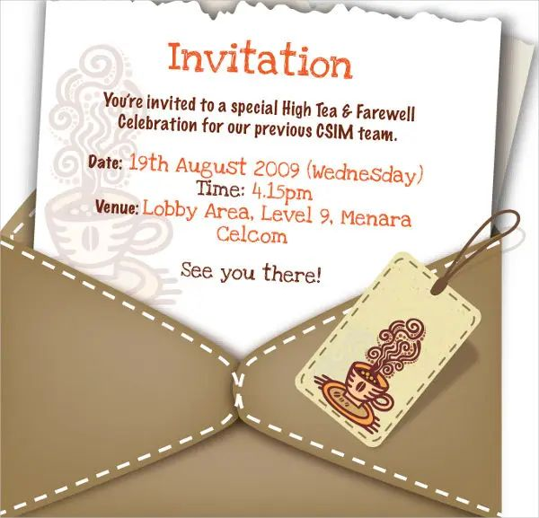 farewell invitation cards for seniors
