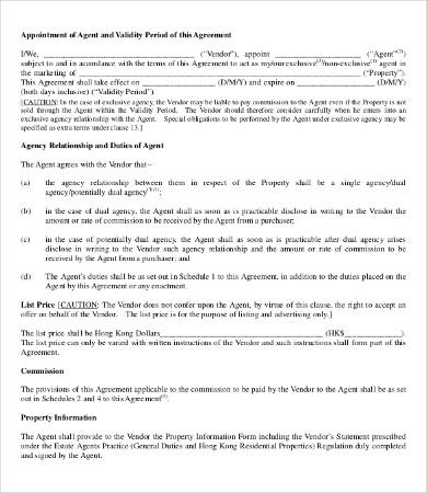 business agency agreement template - solarfm - business agency agreement template