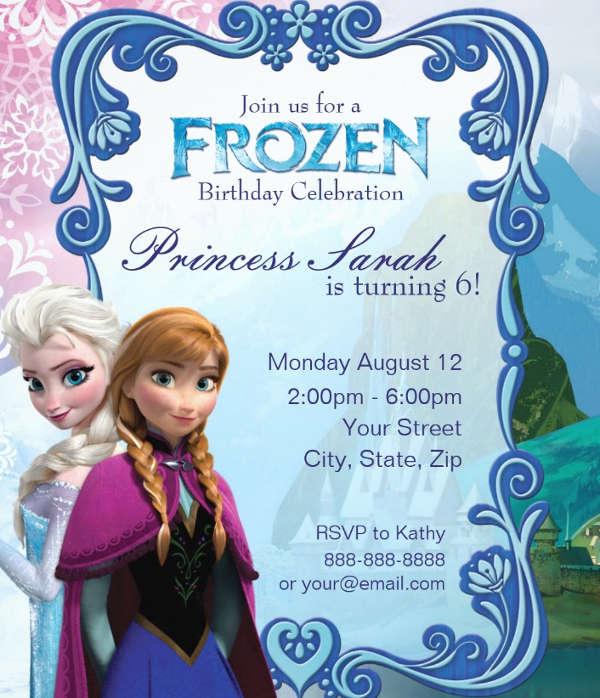 13+ Frozen Invitation Templates - Word, PSD, AI Free  Premium