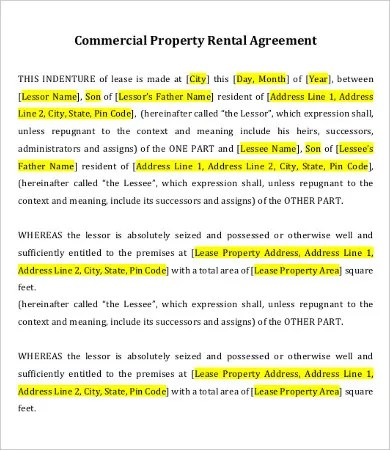 Private Lease Agreement Template - 7+ Free Word, PDF Documents - define rental agreement