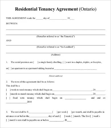Private Lease Agreement Template - 8+ Free Word, PDF Documents - private agreement template