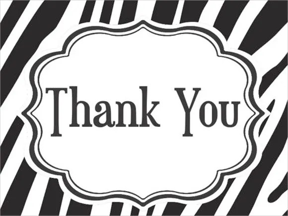 9+ Printable Thank You Card Templates - Free Sample, Example, Format - printable thank you cards black and white