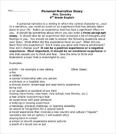 Personal Essay Template - 9+ Free Word, PDF Documents Download - Personal Essay
