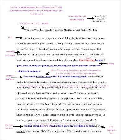 Personal Essay Template - 9+ Free Word, PDF Documents Download