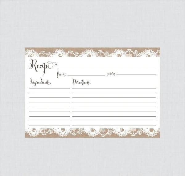 10+ Recipe Card Templates - PSD, AI, Vector EPS, Publisher, Apple
