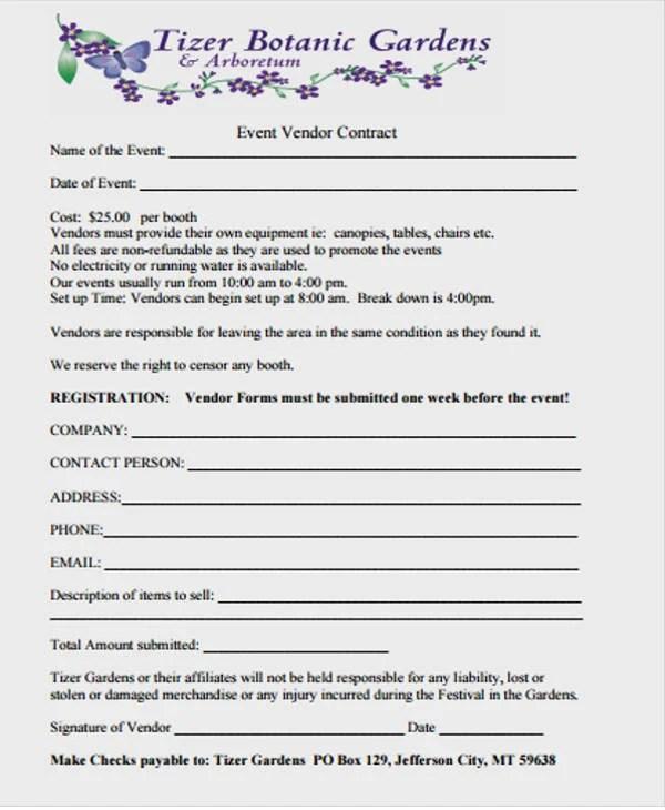 Vendor Contract Template Free  Premium Templates - vendor contract template