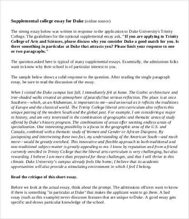 College Essay \u2013 9+ Free Samples, Examples, Format Download Free