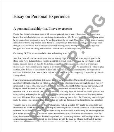 personal experience essay examples describe work experience essay  personal essay u2013 7 samples examples format essay sample personal experience essay