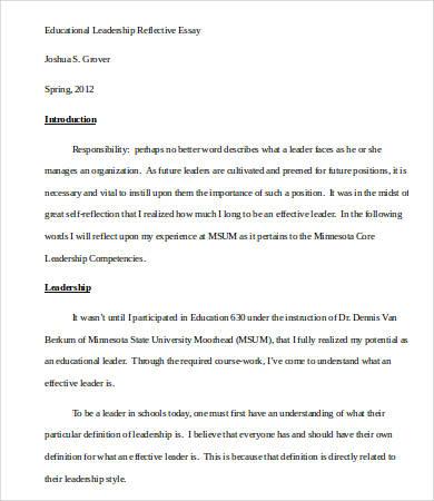 Leadership Essay \u2013 7+ Free Samples, Examples, Format Download Free
