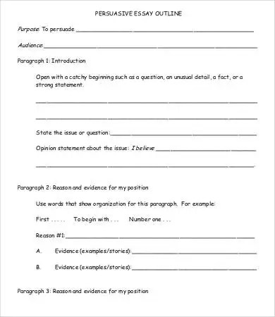 Example Of A Persuasive Essay Outline sample argumentative - sample argumentative essay