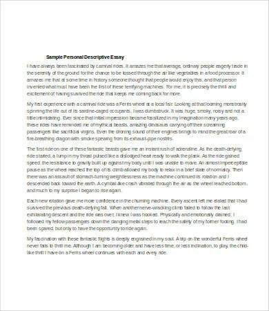 Descriptive Essay \u2013 6+ Free Samples, Examples, Format Download