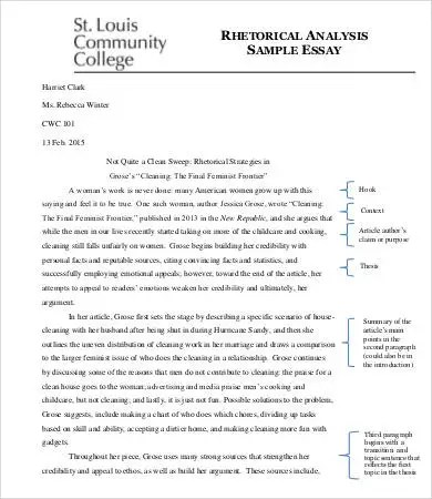 analysis essay template 7 free samples examples format free sample analysis - Example Of A Rhetorical Essay