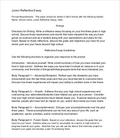 reflection essay format - Onwebioinnovate