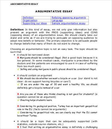 Argumentative Essay | comprandofacil.co