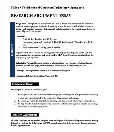 9+ Argumentative Essay Templates - PDF, DOC Free  Premium Templates