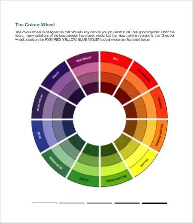 Color Wheel Charts - 6+ Free PDF Documents Download Free  Premium