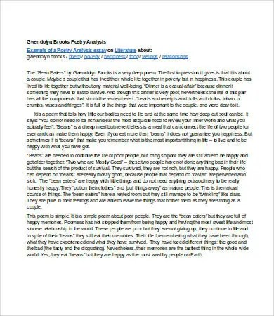 Analysis Essay Template - 7+ Free Sample, Example, Format Free