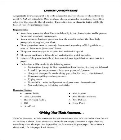 Analysis Essay Template - 7+ Free Sample, Example, Format Free - analysis paper template